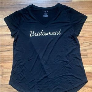 Apt 9 gold bridesmaid shirt